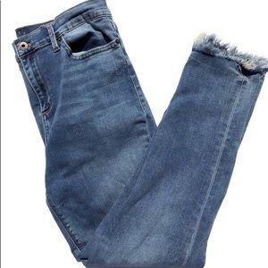 Lucky Brand High Waisted Raw Hem Brooke Jeans 12